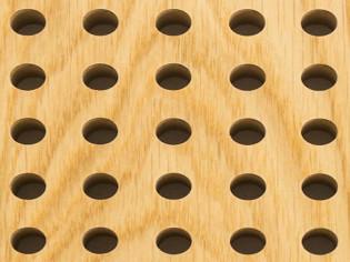 Акустические потолочно-стеновые  панели. Дуб Натуральный (арт. 5014-0404-)
