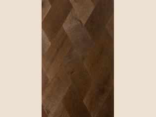 Плетенка, Французская елка, трехслойная инженерная доска Coswick Дуб Молочный шоколад (арт. 1183-3217)