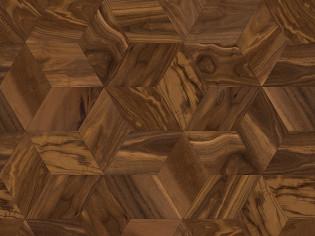 Ромб, трехслойный инженерный паркет Coswick  Натуральный Американский орех   (арт. 1393-3201)